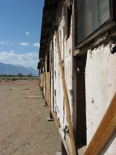 A shack of Manzanar